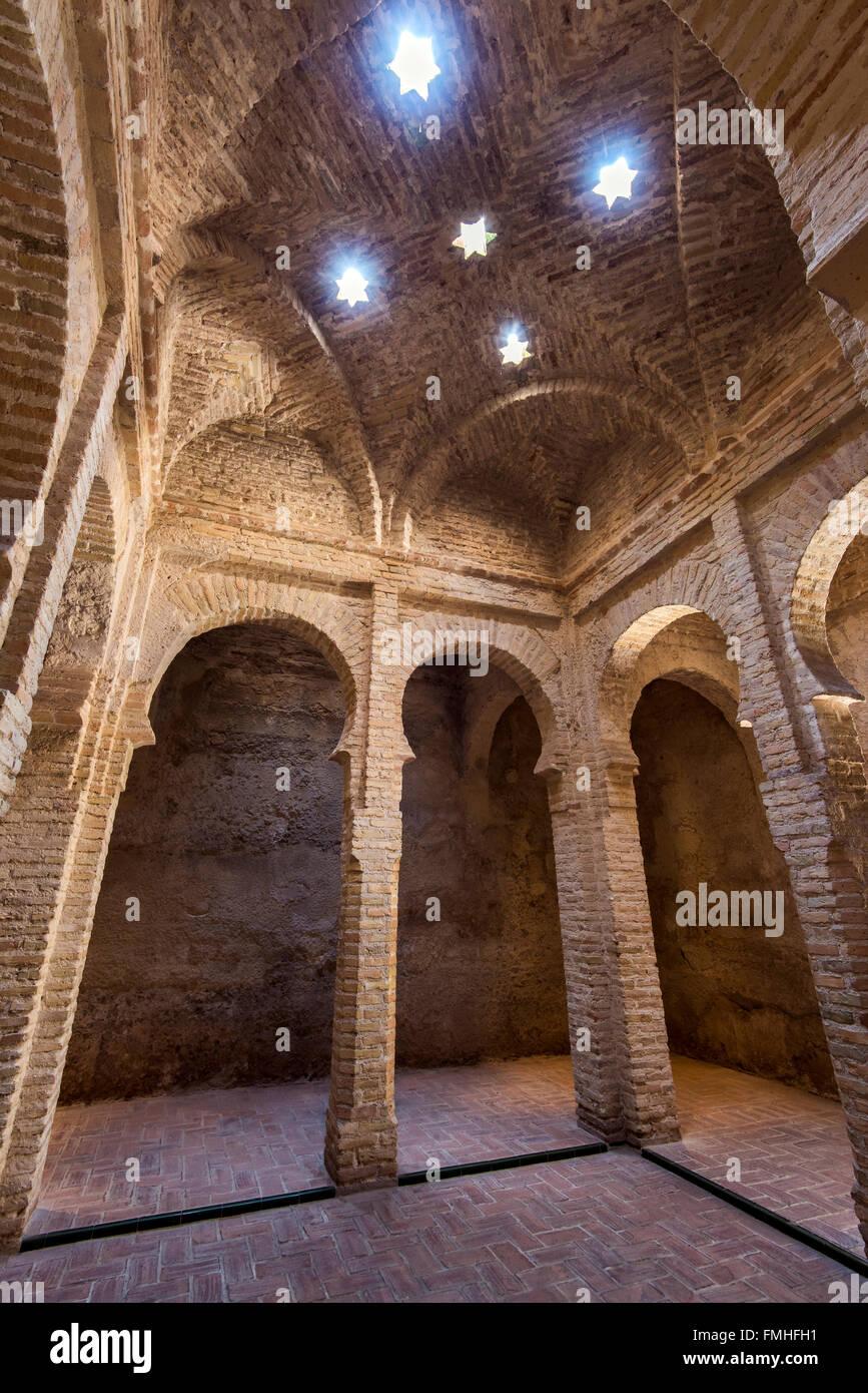 Arabische Bäder, Festung Alcazar, Jerez De La Frontera, Andalusien, Spanien Stockbild