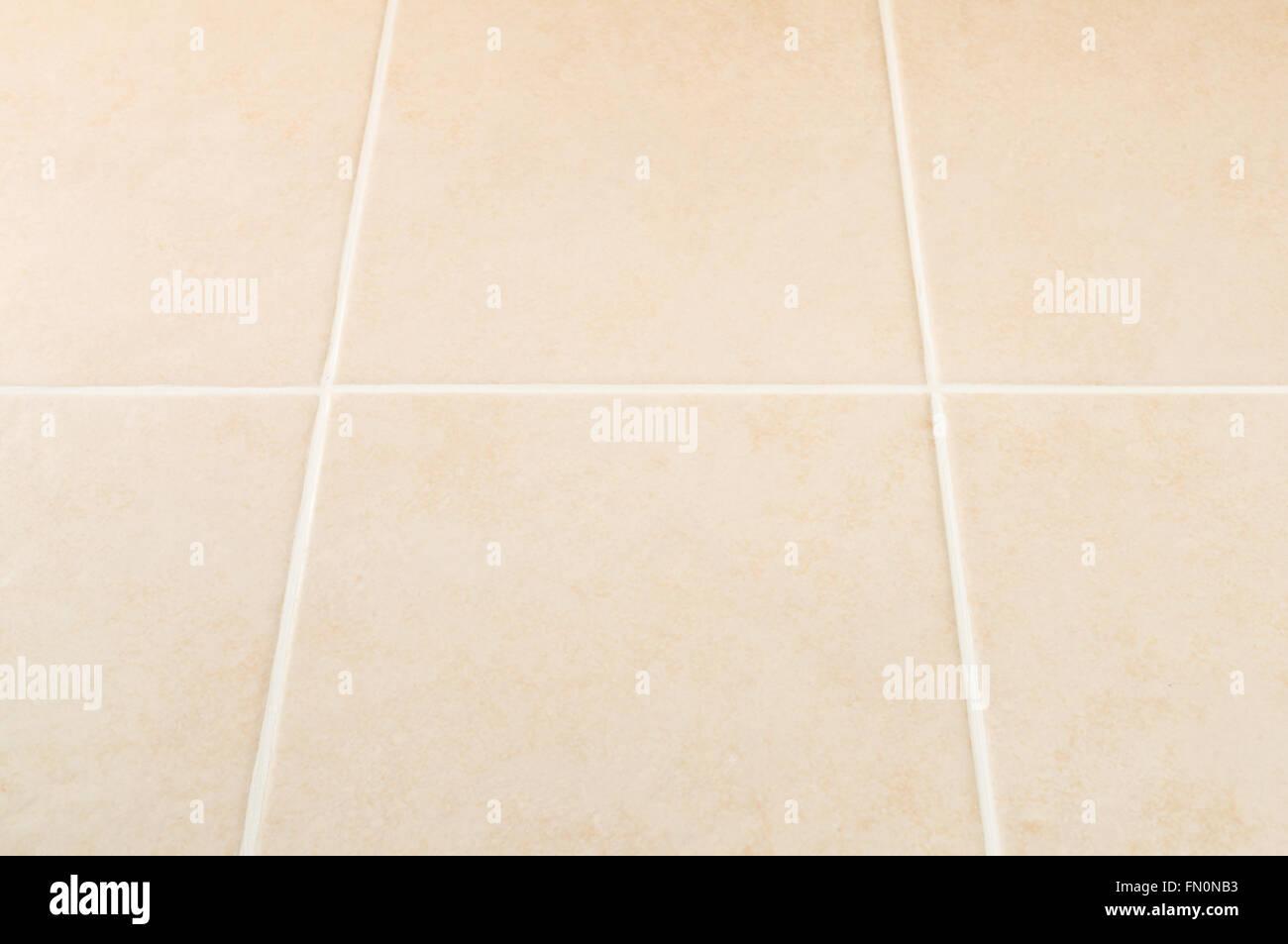 Creme Fliese Wand Mit Weissen Fugen Muster Perspektivische Ansicht