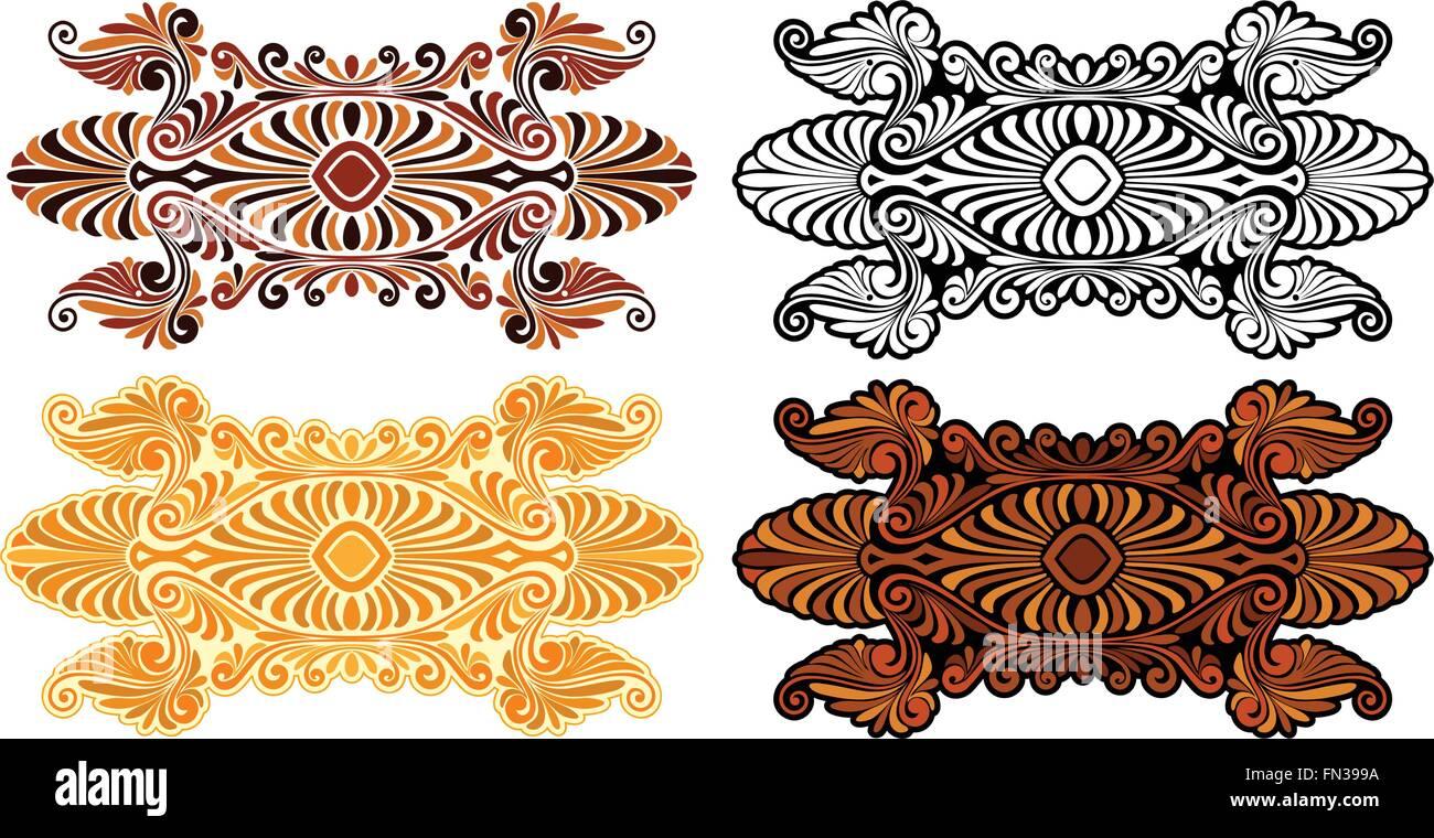 Jugendstil Ornament Von Griechischen Design Inspiriert Und Sixties