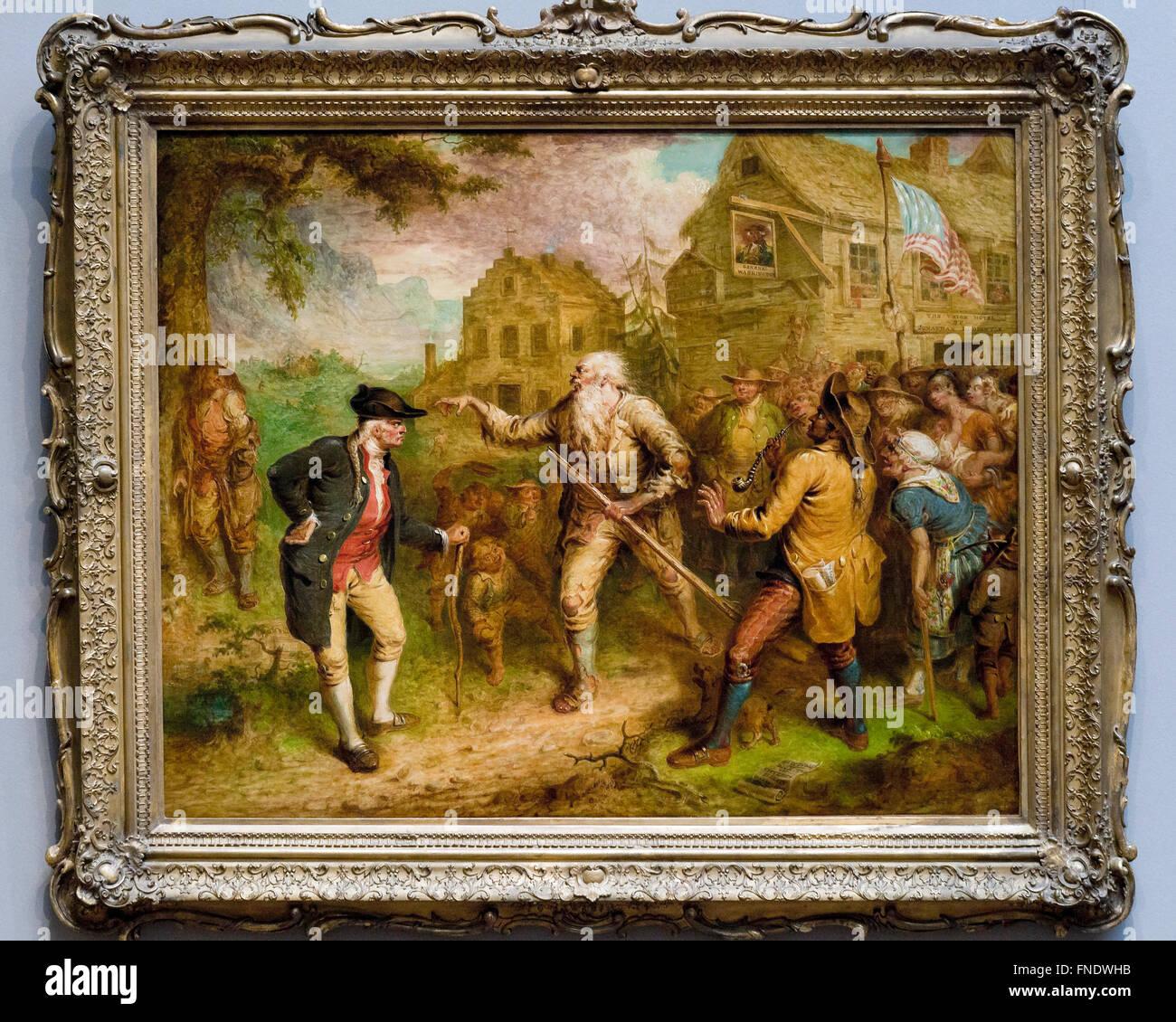 Die Rückkehr der Rip Van Winkle von John Quidor, 1849 Stockbild