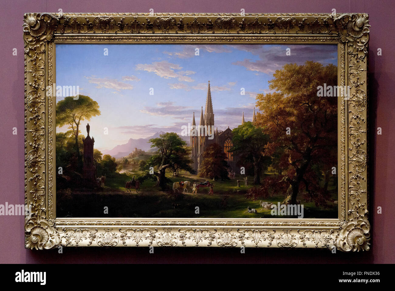 Die Rückkehr von Thomas Cole, ca. 1837 Stockbild