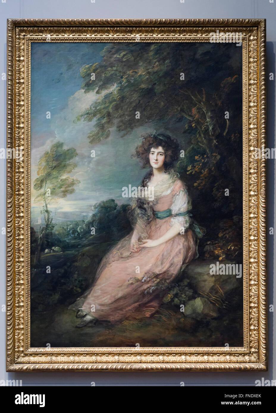 Frau Richard Brinsley Sherican von Thomas Gainsborough, ca. 1785 Stockbild
