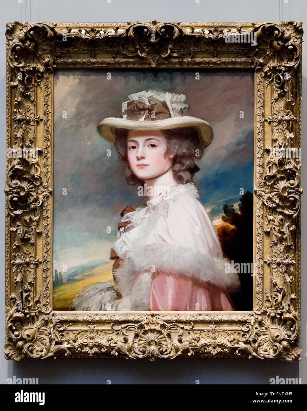 Frau Davies Davenport von George Romney, circa 1782. Stockbild
