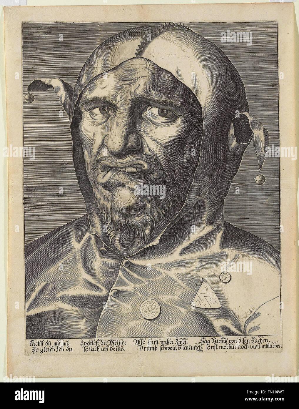 Anonyme Deutsch, 16. Jahrhundert - Großkopf ein Narr Stockbild