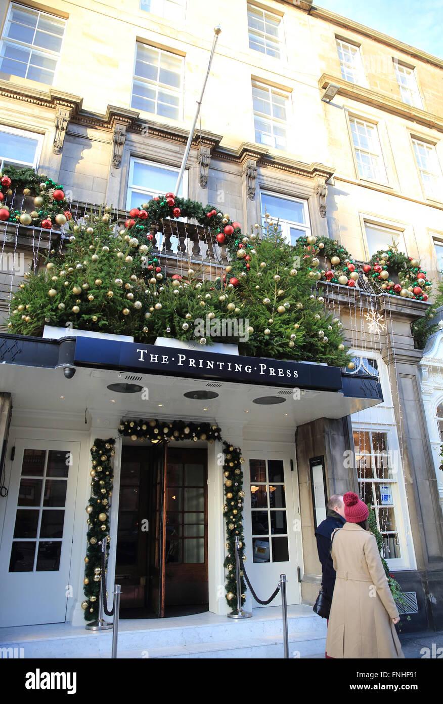 Weihnachten bei den Druck-Presse-Bar & Küche, George Street ...