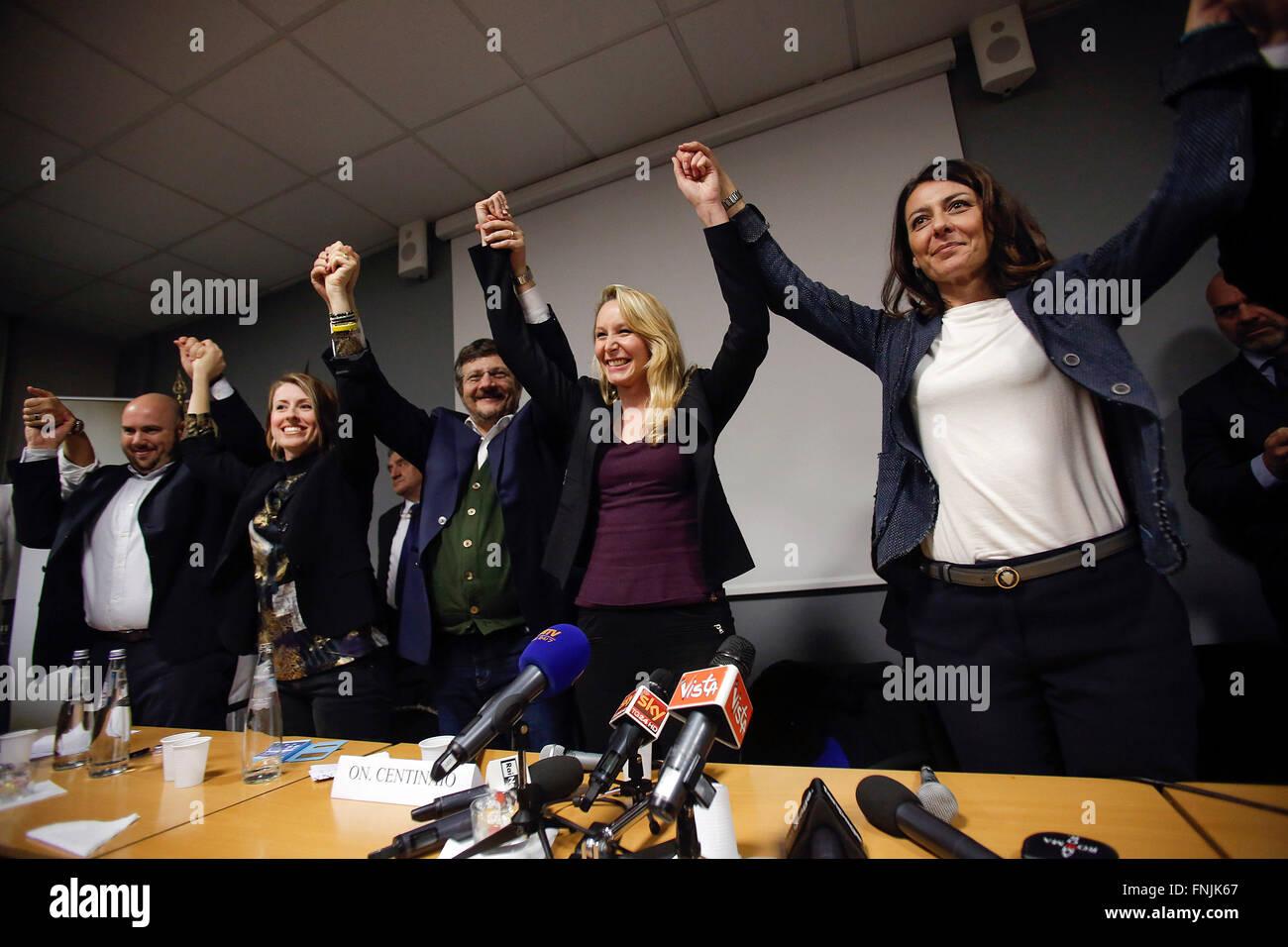 "Marion Chal Le Pen Roma 15.03.2016 Convegno 'L'Europa Delle Mille Patrie' Mar. Konvent ""Europa Stockbild"