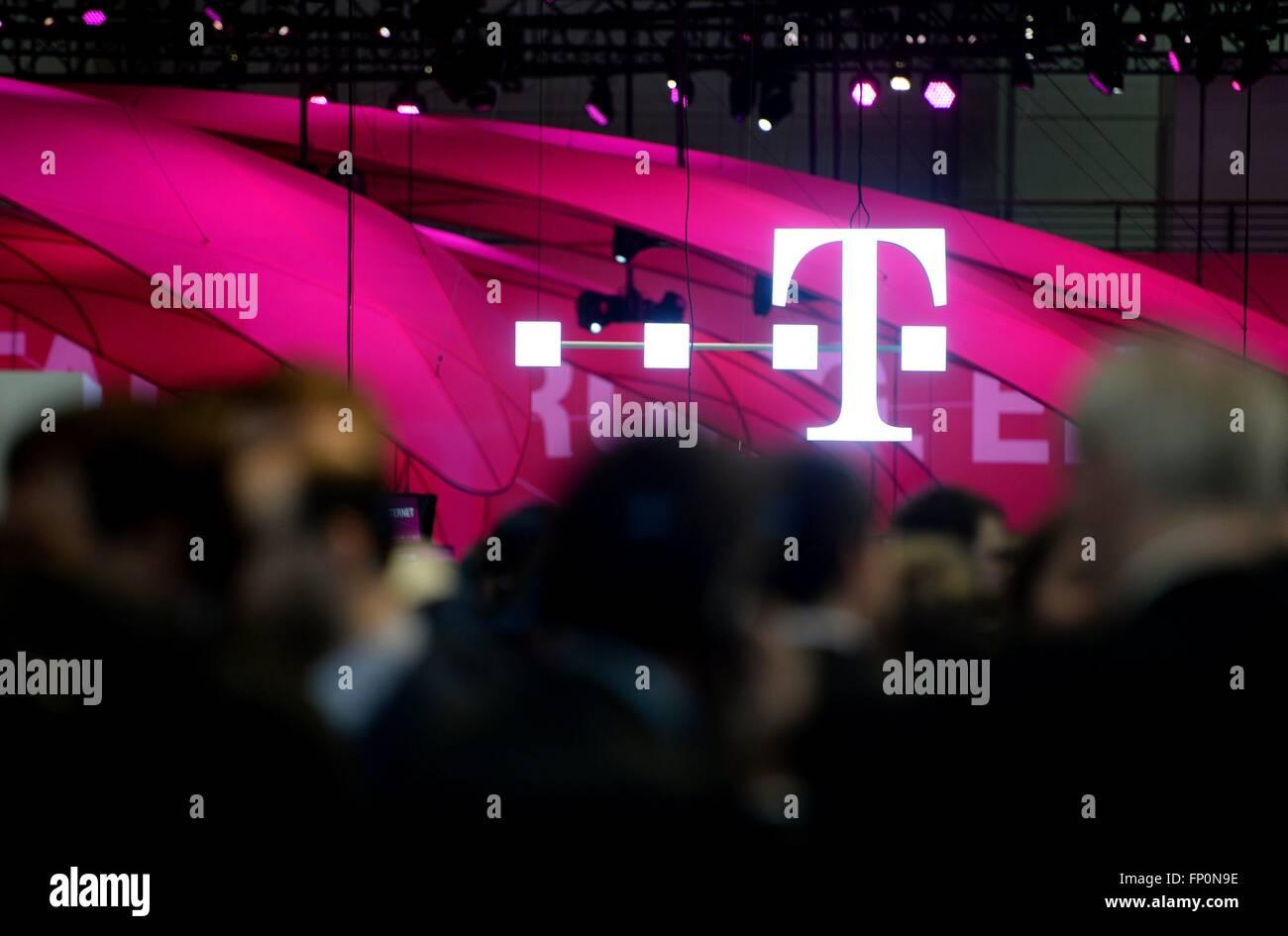 Logo Der Telekom Deutschland Stadt Hannover 16 März 2016 Foto