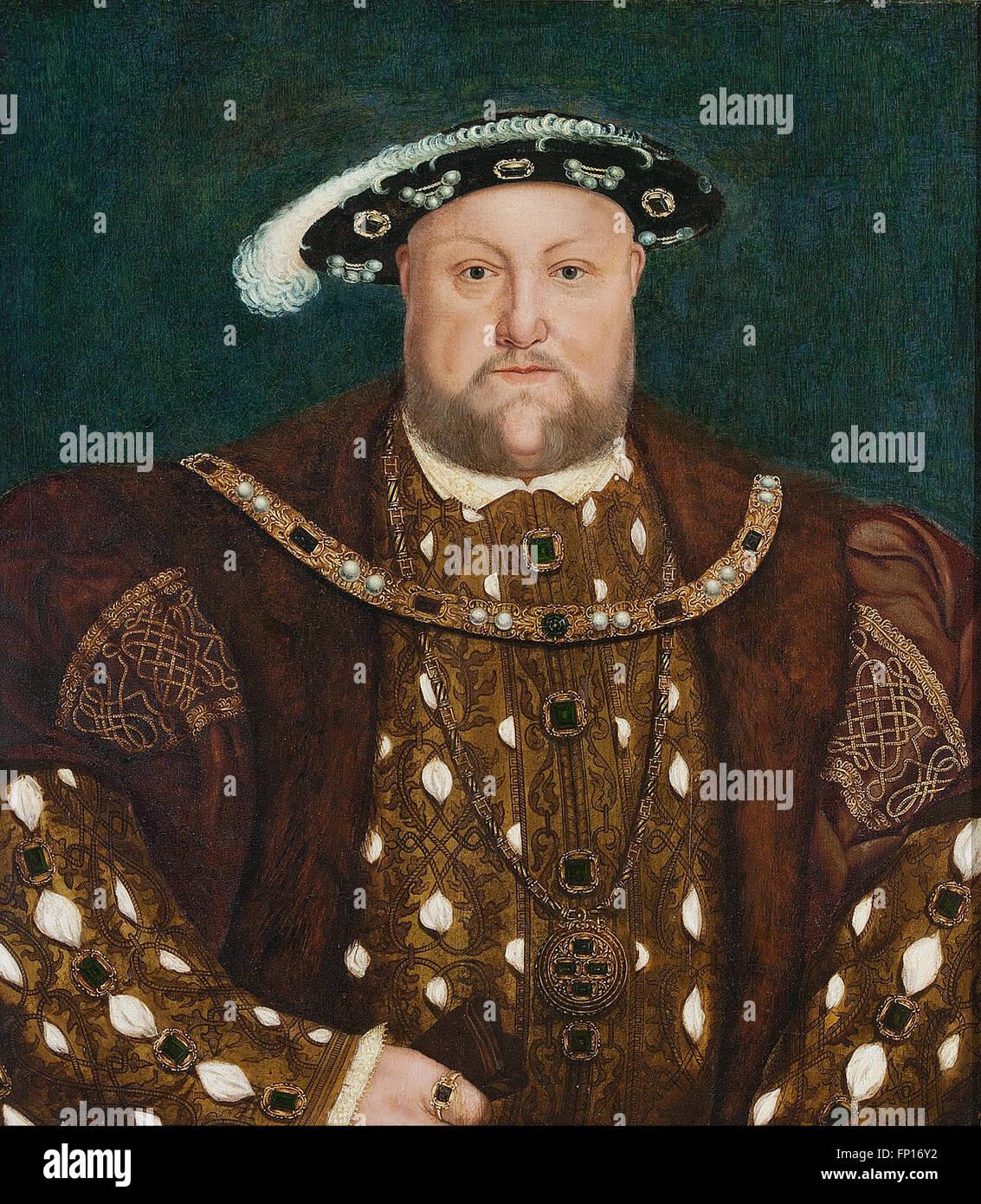 Nach Hans HOLBEIN der jüngere - König Henry VIII Stockfoto