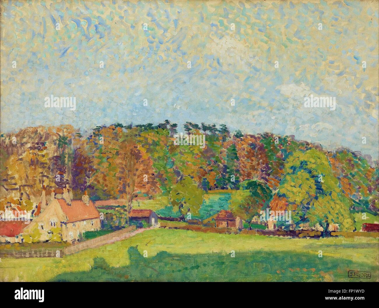 Spencer Gore - Herbst, Sussex Stockbild