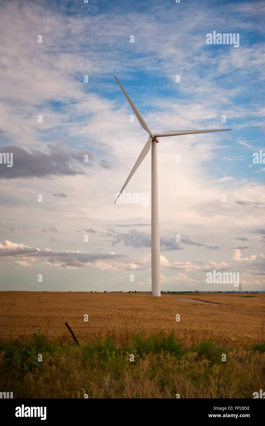 Windkraftanlagen, Wind Mill, Wind Strom Generator im Mittleren Westen der USA Stockbild