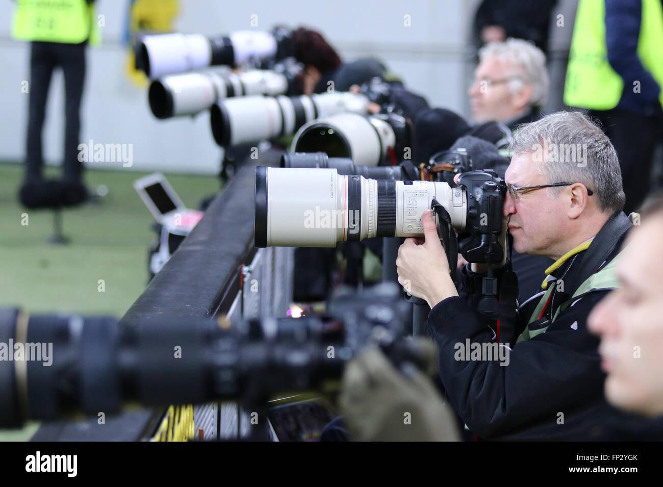 Fussball Fotografen Zu Arbeiten Wahrend Der Uefa Europa