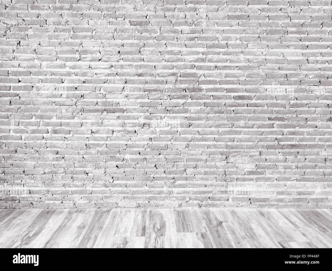 Zimmer Innen Jahrgang Mit Ziegel Wand Und Holz Fußboden Hintergrund