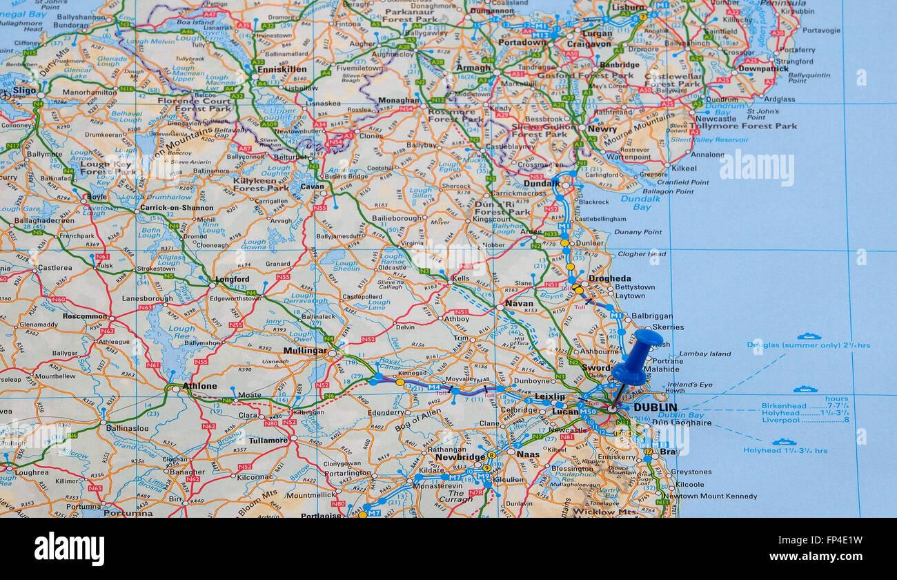 Karte Von Der Ostkuste Von Eire Sudirland Zeigt Die Strasse Und