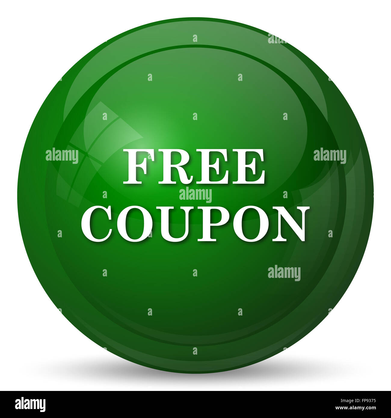 Free Coupon Icon Internet Button Stockfotos & Free Coupon Icon ...