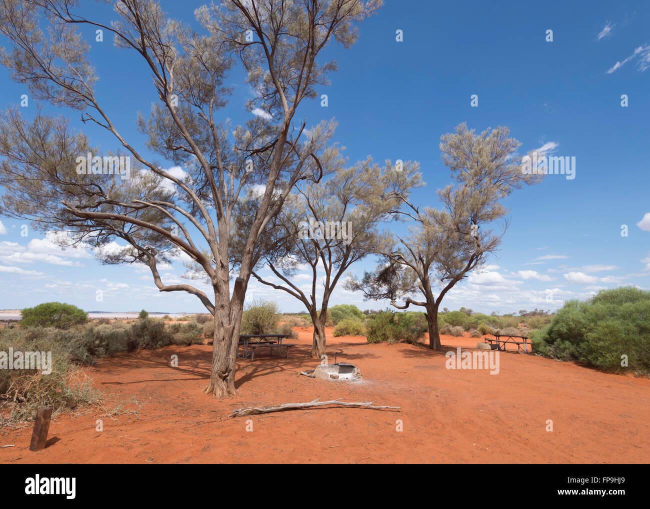 Bush Camp, Western Australia, Australien Stockbild