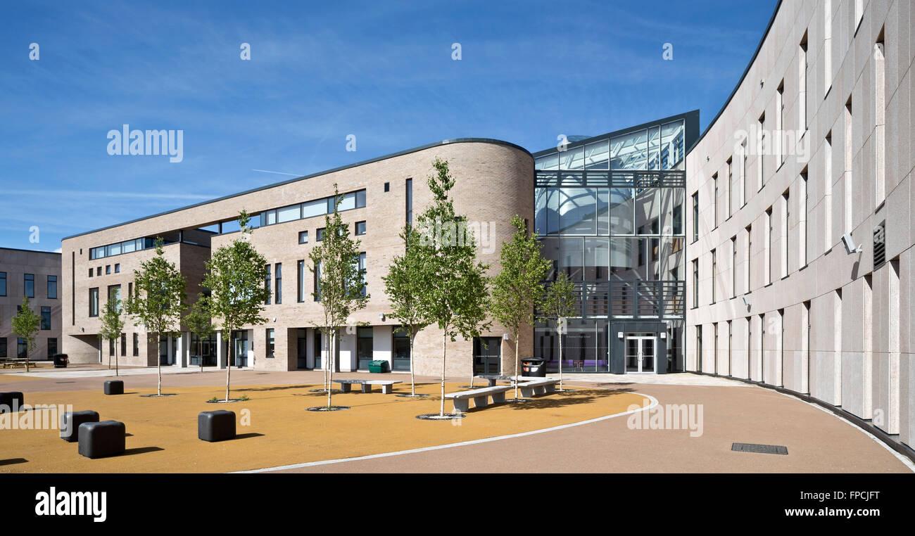 Ein Computer generierte Bild von der Außenseite des Port Glasgow teilte Campus Schule. Stockbild