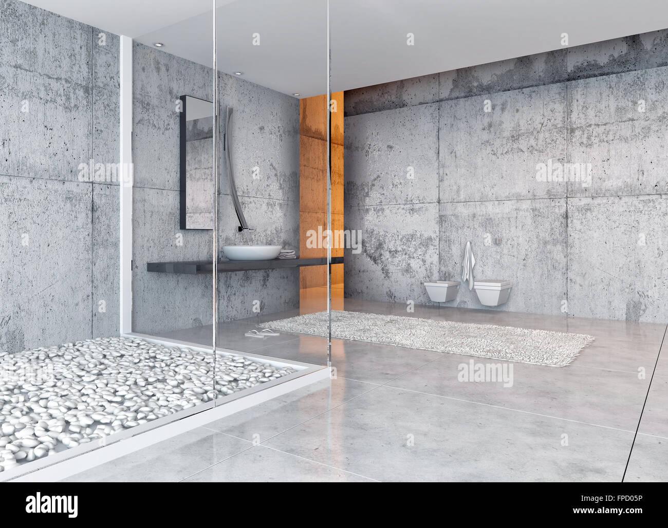 Exquisit Moderne Wände Beste Wahl Toilette Interieur Mit Marmorboden Und Wände Und