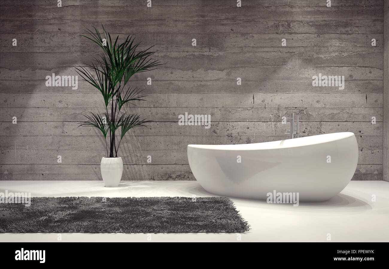 Bootsform zeitgenössische Badewanne in einem stilvollen grau ...