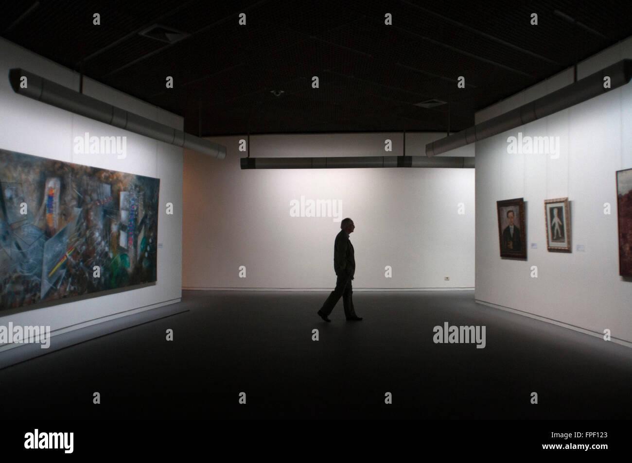 Im Inneren des Musée Royaux des Beaux-Arts, Brüssel, Belgien. Diese ...