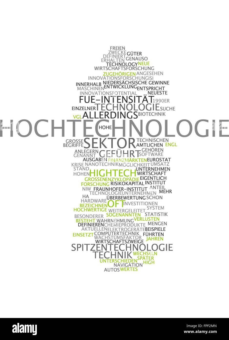 Hochtechnologie-Hightech-Technik-Techniken Stockbild