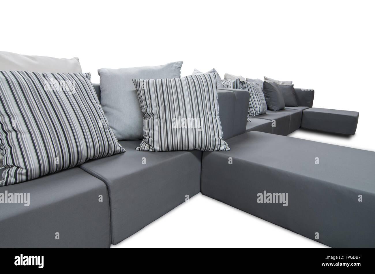 Outdoor Indoor Sofa Mit Wasserdicht Polster Und Kissen Stockbild
