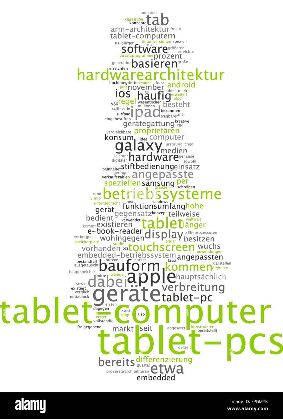 Tablet-PC Tablet-PC Tablet-PCs Gerät Geräte Stockbild