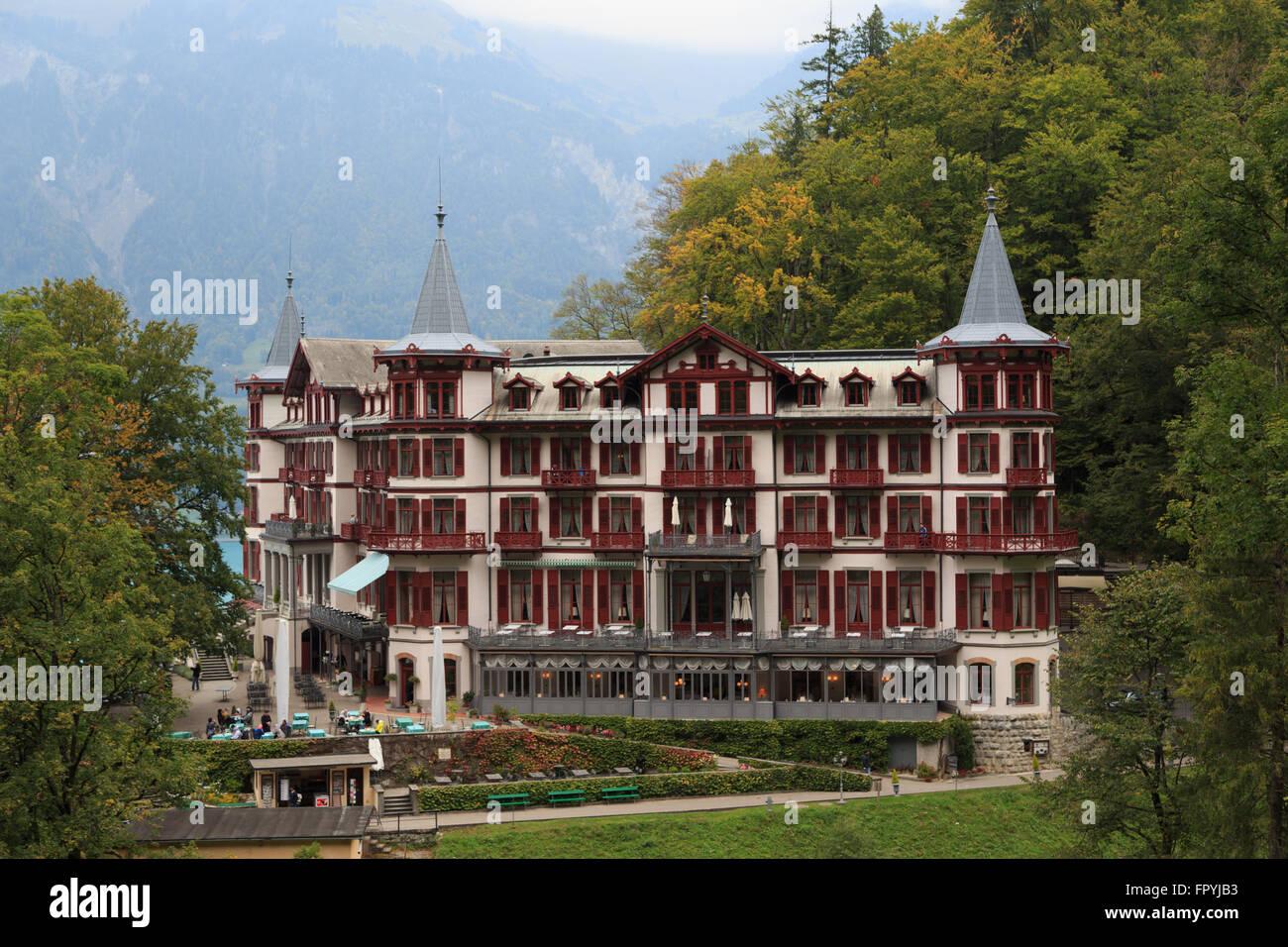 Ein Foto Von Dem Grand Hotel Giessbach In Der Nahe Von Den Giessbachfallen Auf Dem Brienzersee Im Berner Oberland Bereich Der Schweiz Stockfotografie Alamy