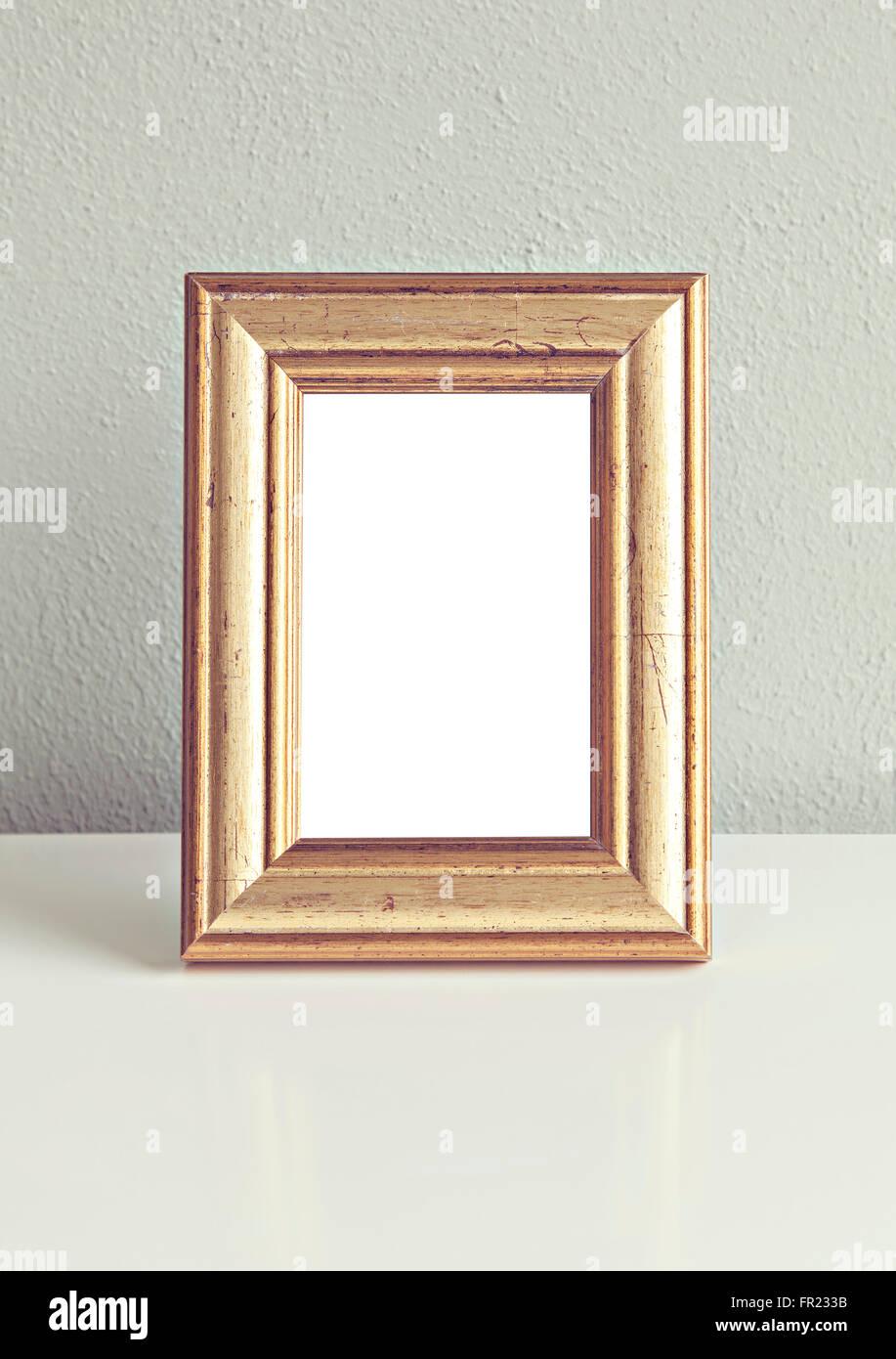 Bild Vergoldete Alter Rahmen Mock-up Stockfoto, Bild: 100235279 - Alamy