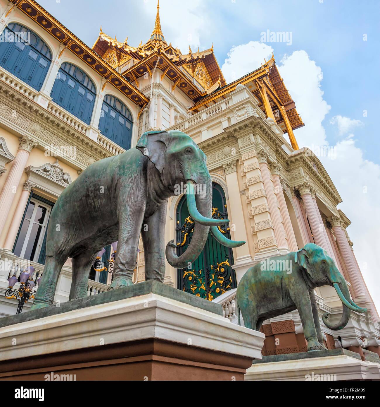 Chakri Maha Prasat Halle, großer Palast, Bangkok, Thailand Stockbild