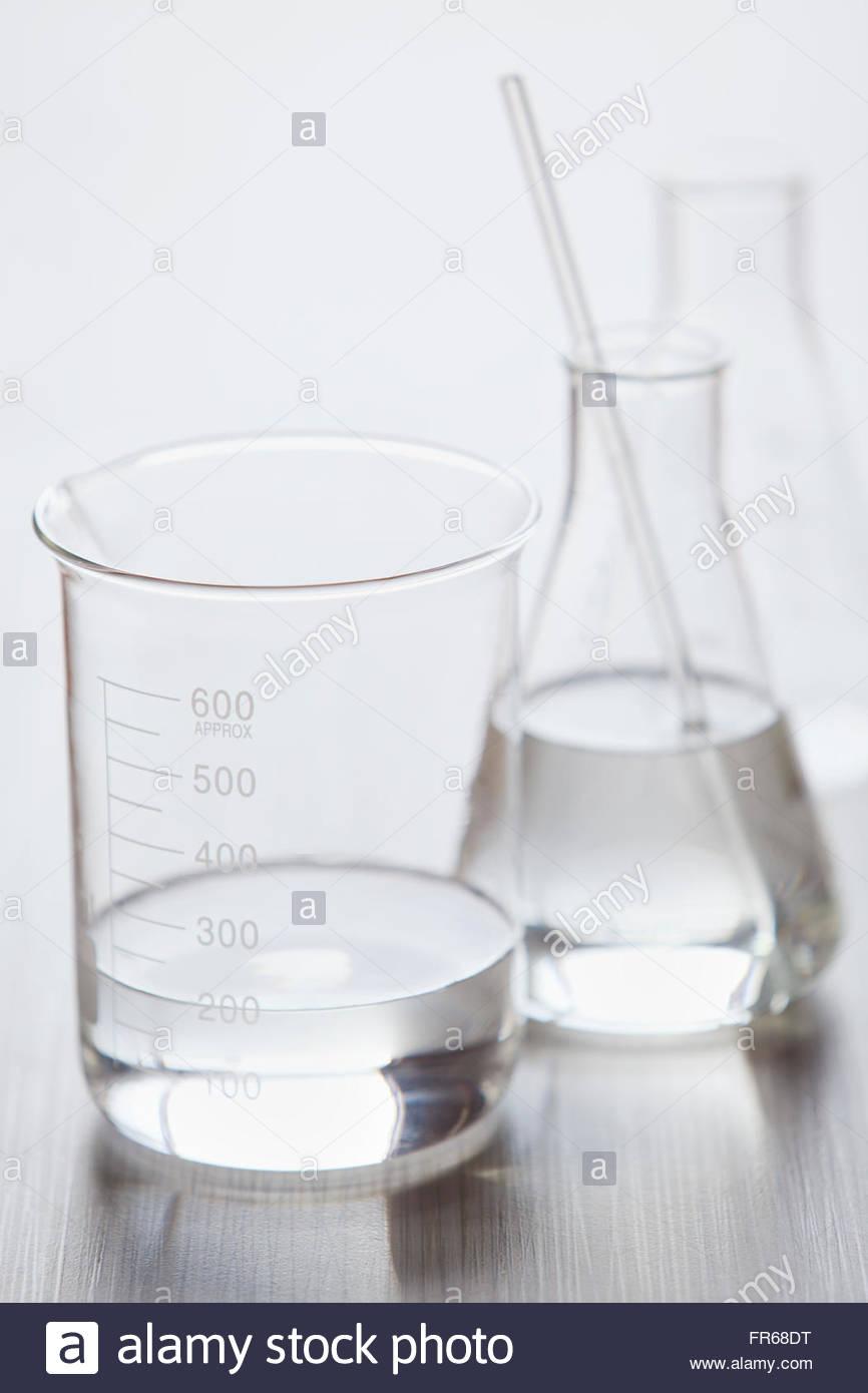 medizinische noch von Laborglas Stockbild