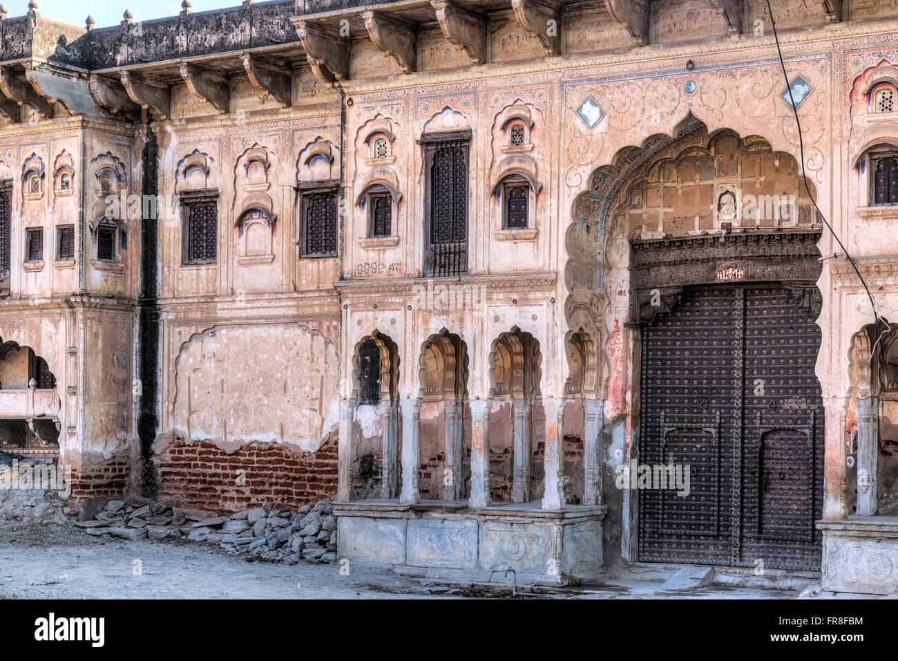 Haveli in Mandawa, Jhunjhunu, Rajasthan, Indien, Asien Stockbild