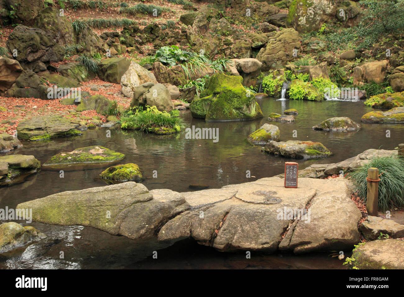Japan, Tokio, Rikugien Garten, Stockbild