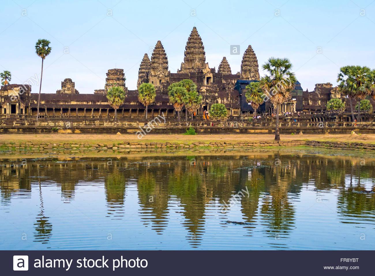 UNESCO-Weltkulturerbe, Angkor Wat, Siem Reap Provinz, Kambodscha Stockbild