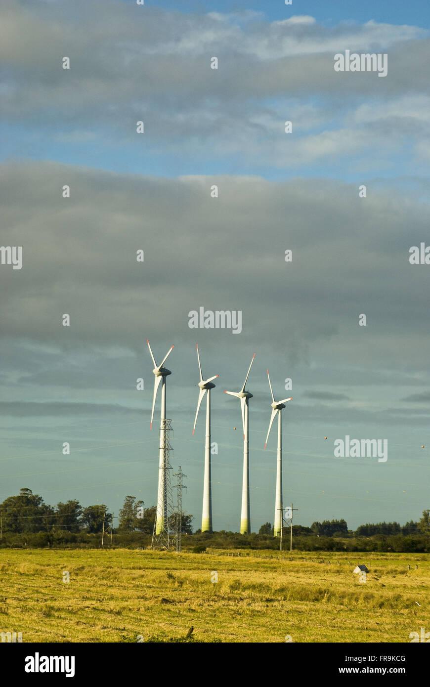 Generator Wind-Kraft-Park - Winde Süd Stockbild