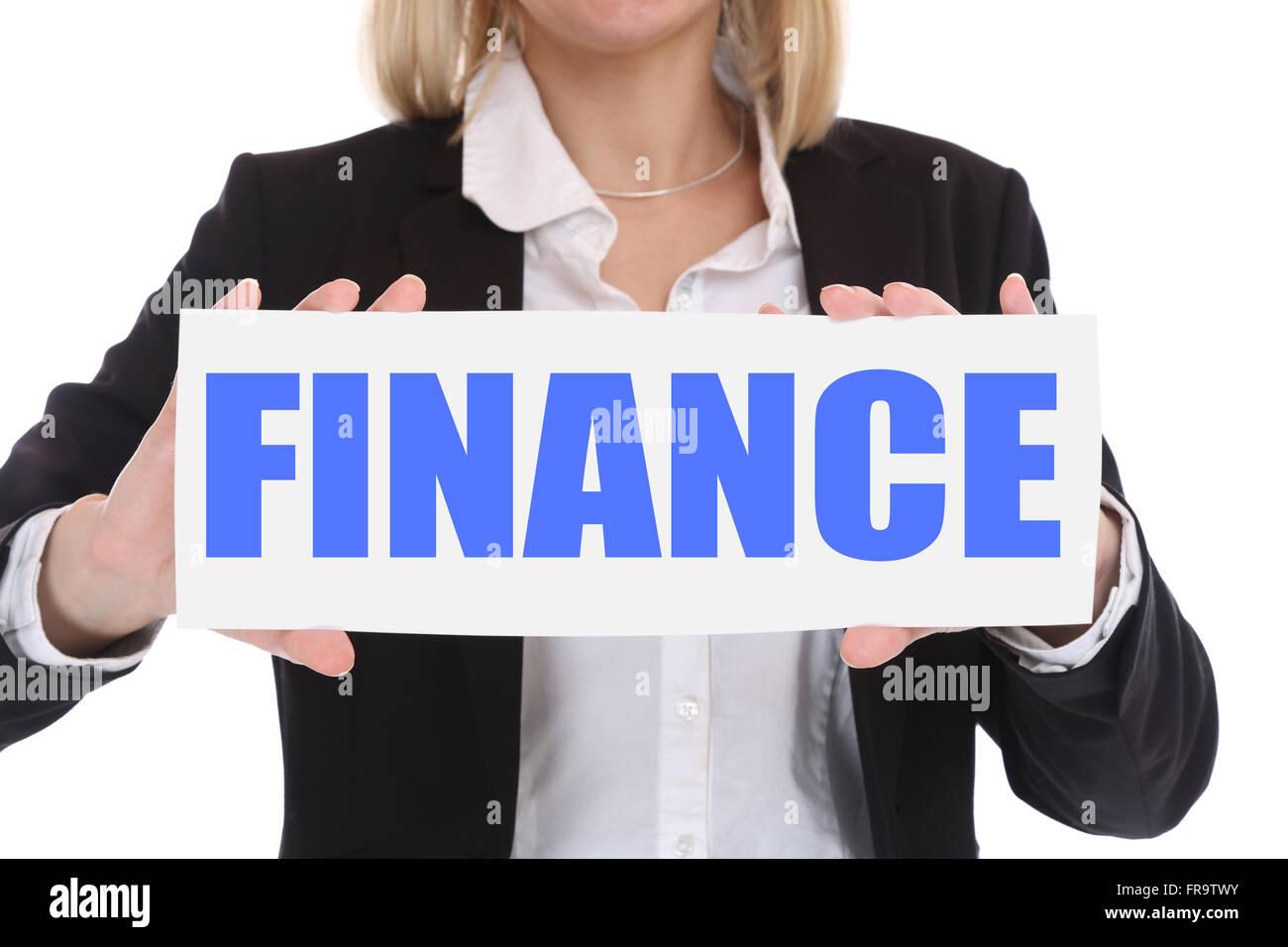 Finanz Finanzen Geld Geschäft Konzept Investition finanzieren Stockbild