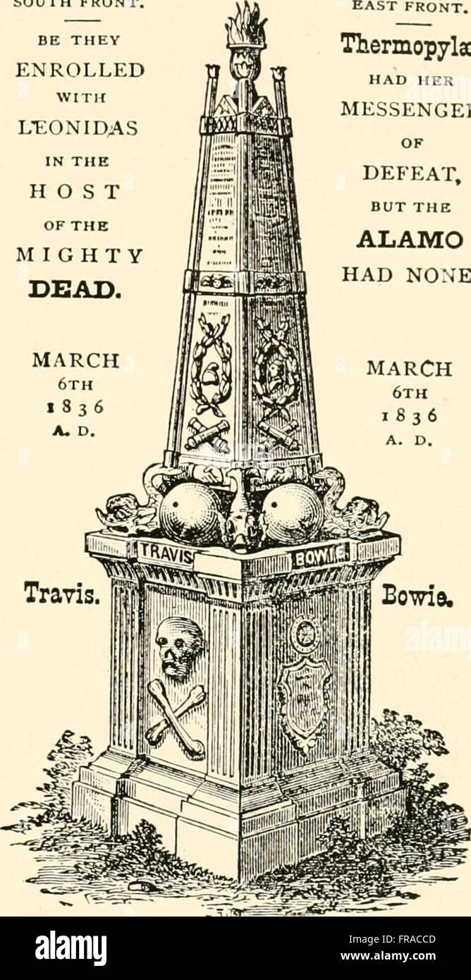 Die Geschichte und Geographie von Texas wie gesagt in Landkreisnamen (1915) Stockfoto