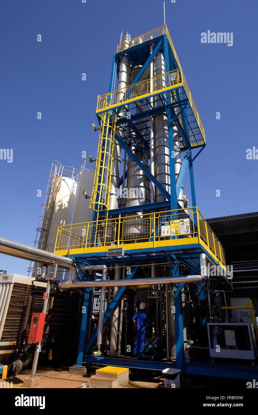 Industrie-Hersteller von Orangensaft Stockbild