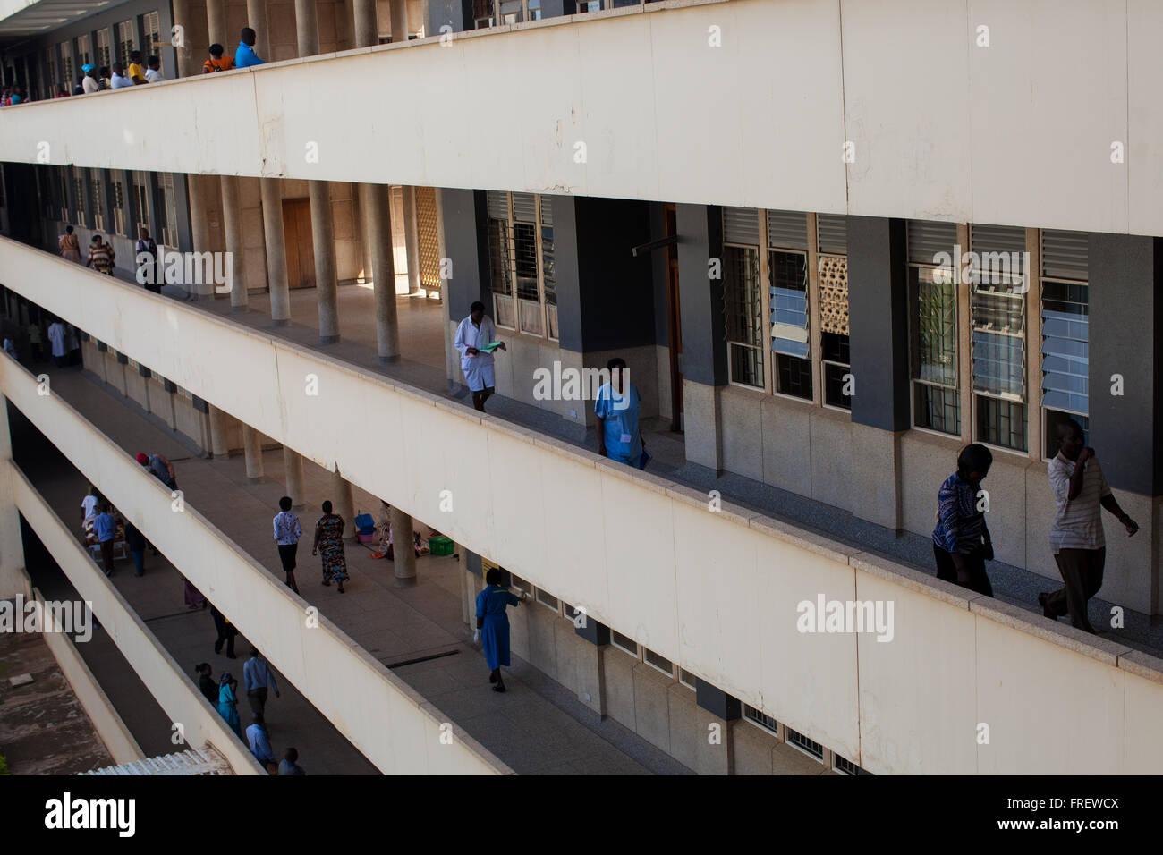 Mulago Hospital Uganda, Afrika Stockbild