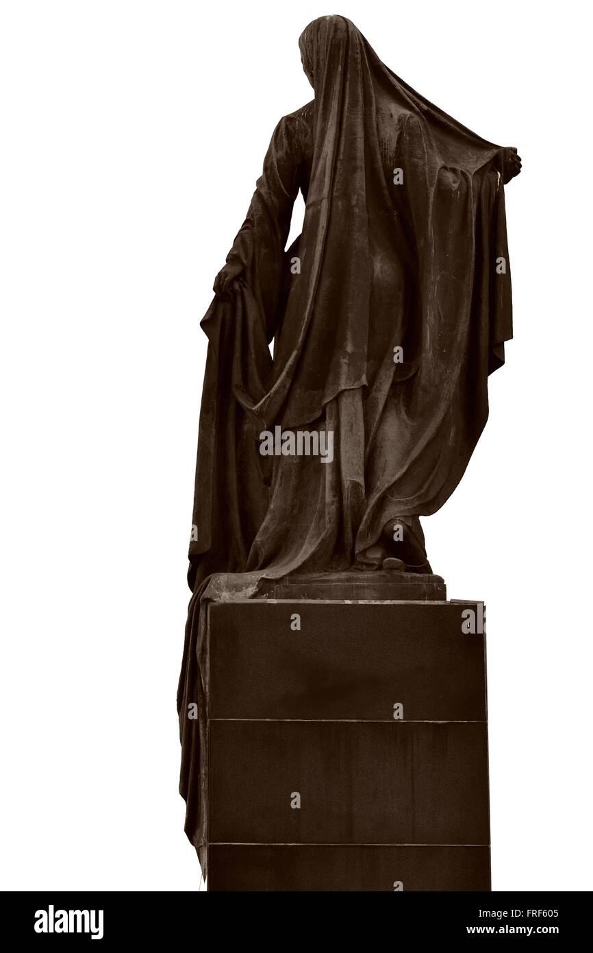 Statue der befreiten Frau, in Baku, der Hauptstadt Aserbaidschans, Ansicht von hinten. Eine berühmte Statue Stockbild