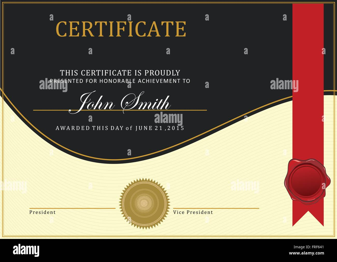 Stock Certificate Ribbon Stockfotos & Stock Certificate Ribbon ...