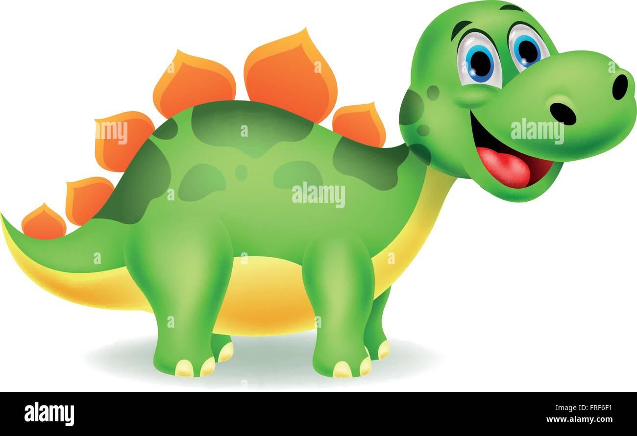 Niedliche Dinosaurier Cartoon Vektor Abbildung Bild 100523333 Alamy