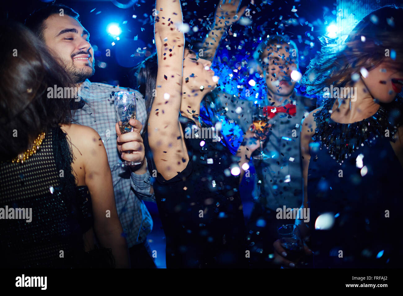 Energetic tanzen Stockbild