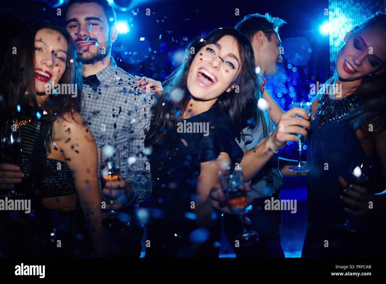 Tanzen auf party Stockbild