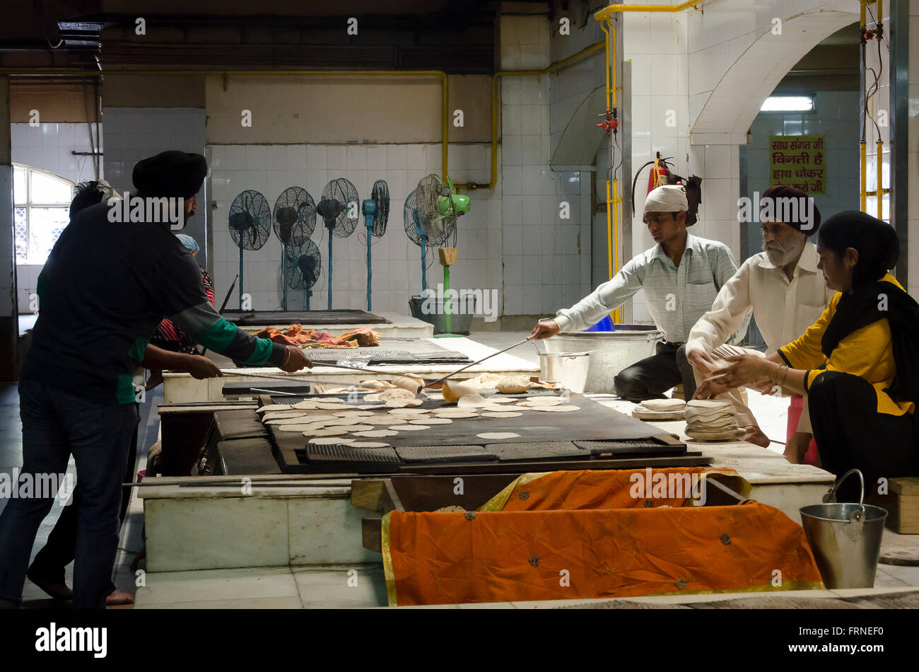 Sikh Temple Kitchen New Delhi