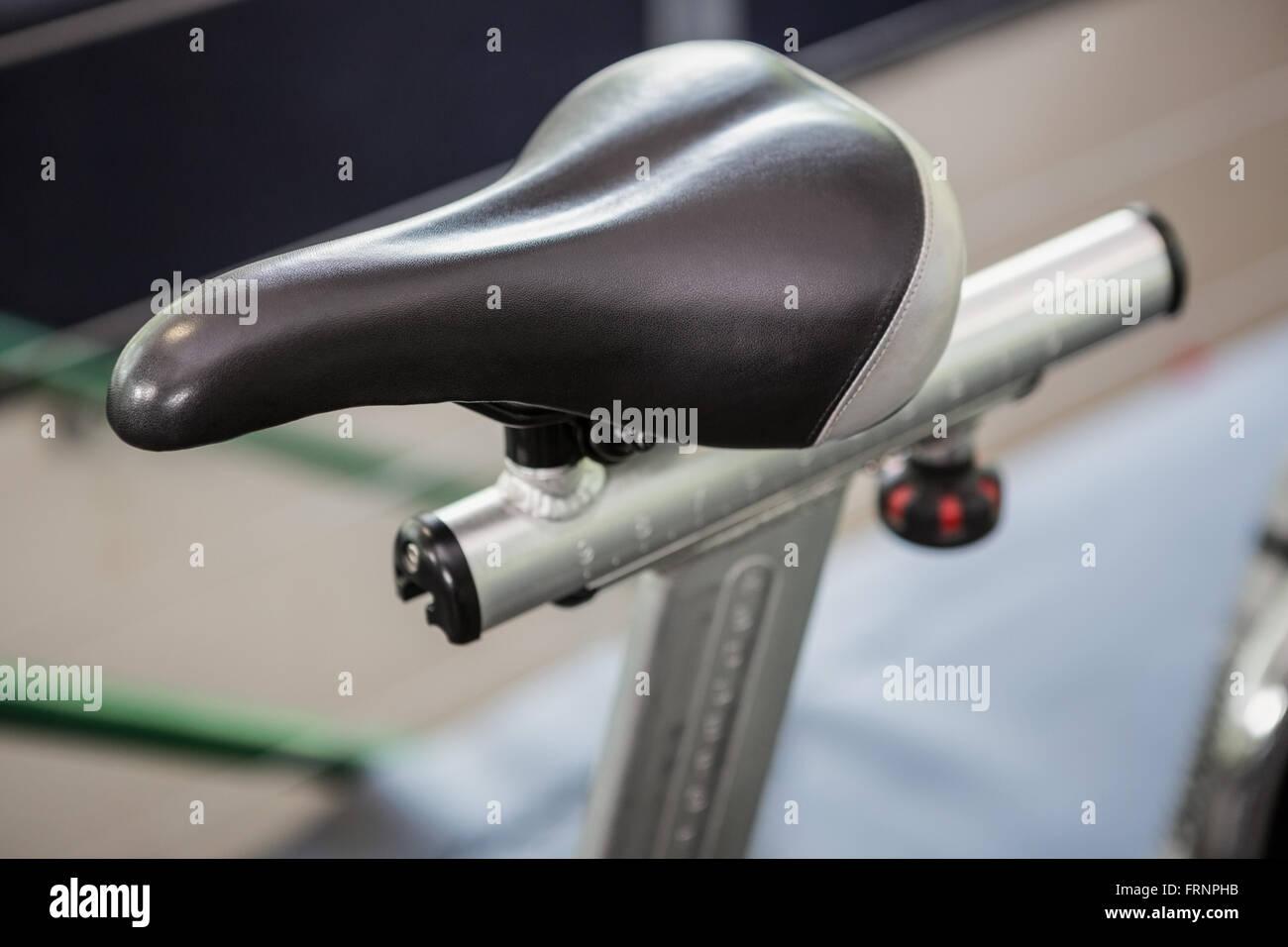 Close-up Heimtrainer Sitz Stockbild