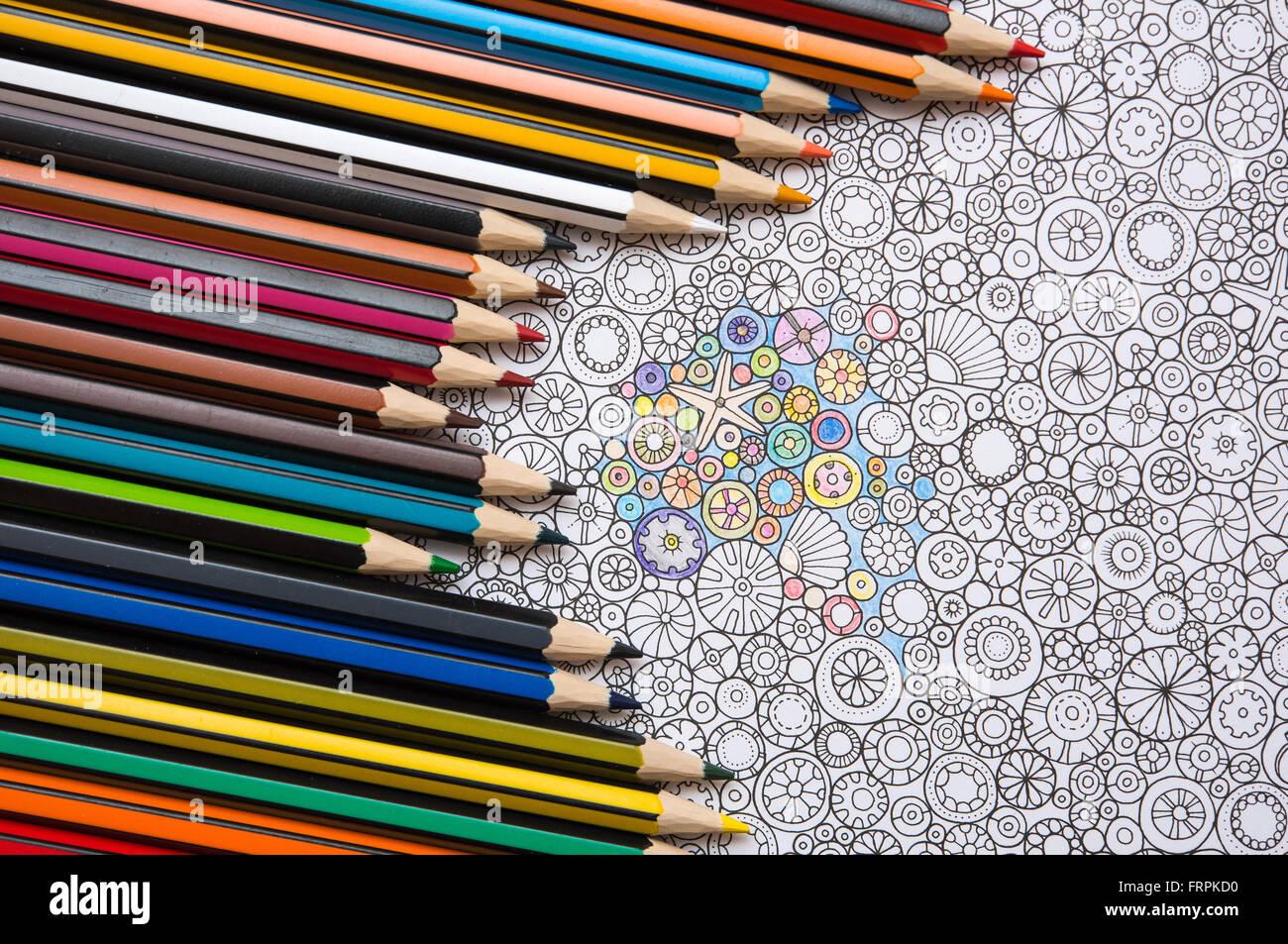Eine Seite beim Erwachsenen Färbung Buch \