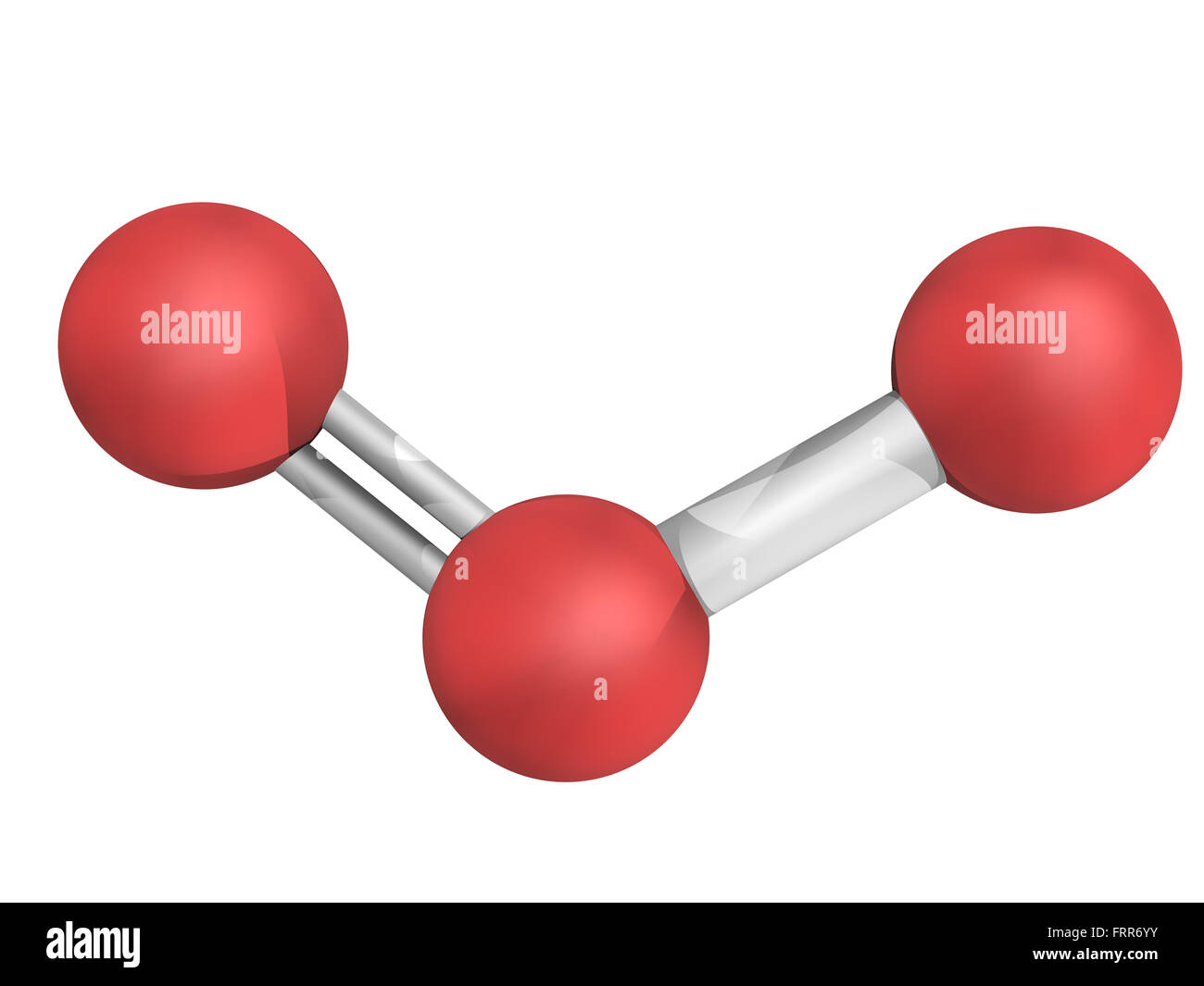 Ozon Trioxygen O3 Molekül Chemische Struktur