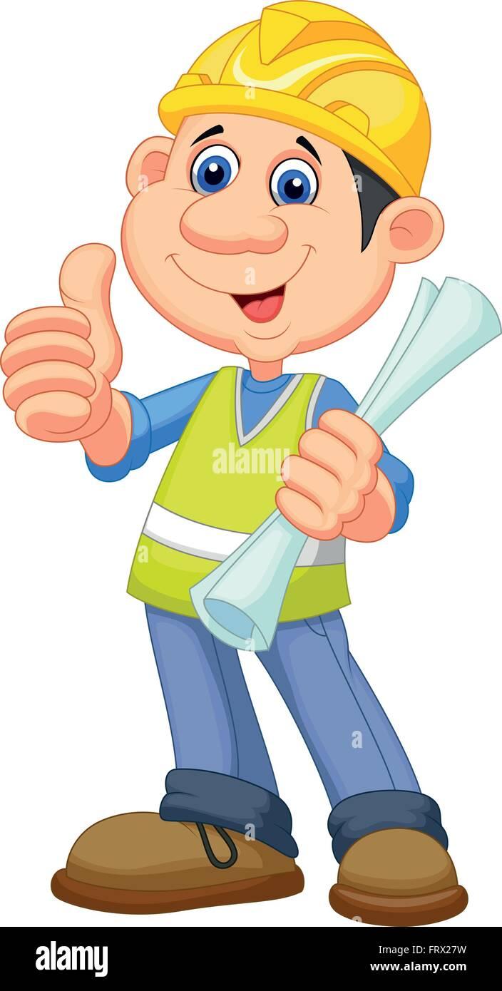 Cartoon Bauarbeiter Handwerker Vektor Abbildung Bild 100761469