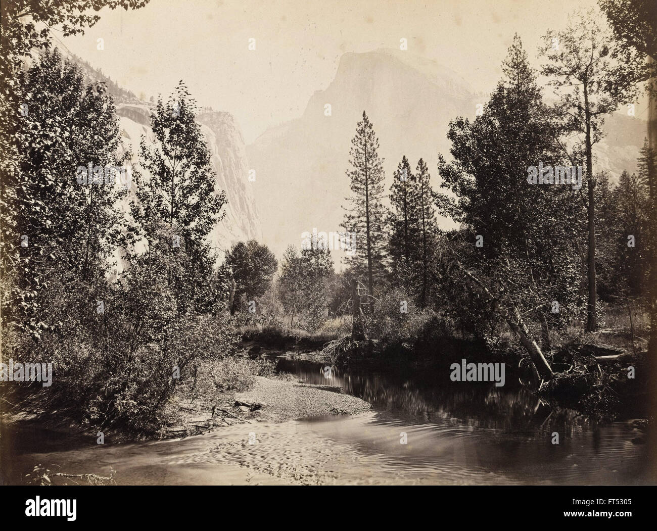 Carleton E. Watkins - Half Dome, 4967 Füße, Yosemite - Cooper-Hewitt National Design Museum Stockbild