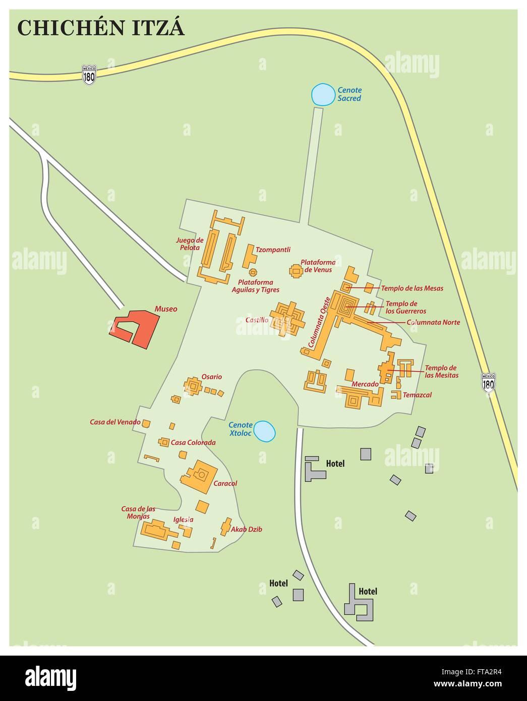 Yucatan Map Stockfotos & Yucatan Map Bilder - Alamy